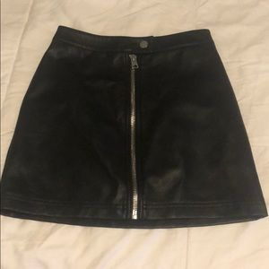 Hot leather skirt from Topshop